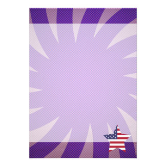 Best United States Flag Design 13 Cm X 18 Cm Invitation Card