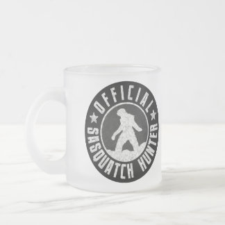 Best Version - OFFICIAL Sasquatch Hunter Design Frosted Glass Coffee Mug