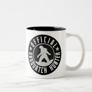 Best Version - OFFICIAL Sasquatch Hunter Design Two-Tone Coffee Mug