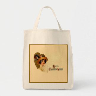 Best Vintage Valentine Wishes Reusable Grocery Tote Bag