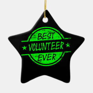 Best Volunteer Ever Green Christmas Ornament