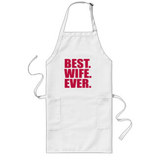 Best. Wife. Ever. (pink) Long Apron