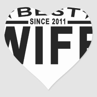 Best WIFE Since 2011 Tshirt '.png Heart Sticker