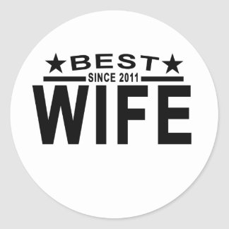 Best WIFE Since 2011 Tshirt '.png Round Sticker