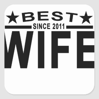Best WIFE Since 2011 Tshirt '.png Square Sticker