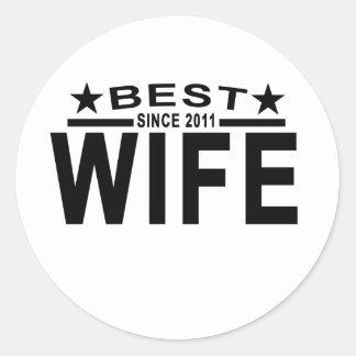 Best WIFE Since 2011 Tshirt '.png Round Sticker