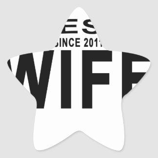 Best WIFE Since 2011 Tshirt '.png Star Sticker