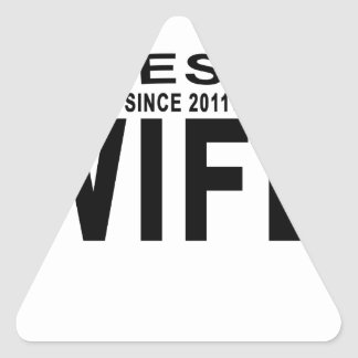 Best WIFE Since 2011 Tshirt '.png Triangle Sticker