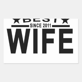 Best WIFE Since 2011 Tshirt '.png Rectangular Sticker