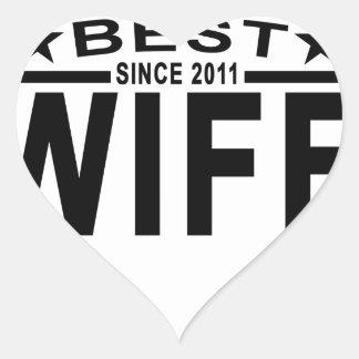Best WIFE Since 2011 Tshirt '.png Heart Sticker