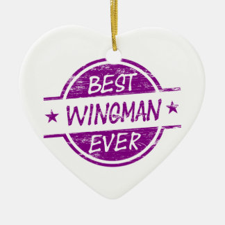 Best Wingman Ever Purple Christmas Ornament