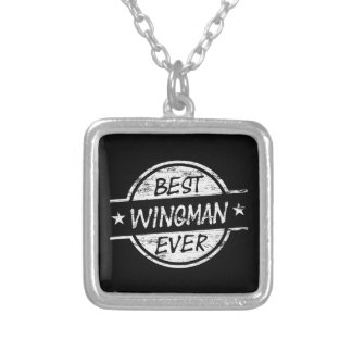 Best Wingman Ever White Silver Plated Necklace