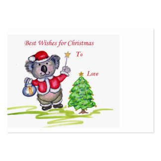 Best Wishes for Christmas Gift Tag. Pack Of Chubby Business Cards