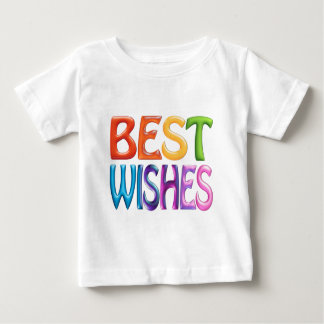 BEST WISHES fun colourful 3d-like logo Baby T-Shirt