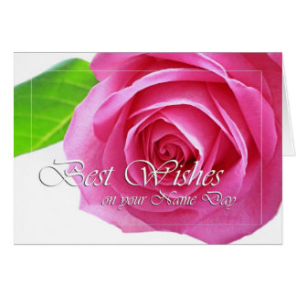 Best wishes, name day, rose greeting card
