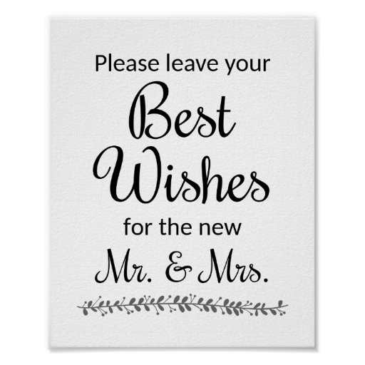 Best Wishes Wedding Guest Book Sign - Rochester