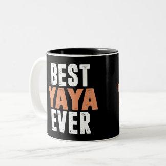 Best Yaya Ever Two-Tone Coffee Mug