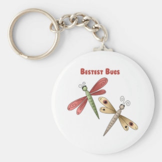 Bestest Bugs (dragonflies) Basic Round Button Key Ring