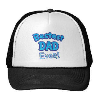 Bestest DAD ever BFF father Mesh Hats