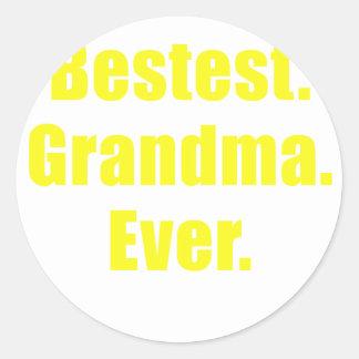 Bestest Grandma Ever Round Sticker