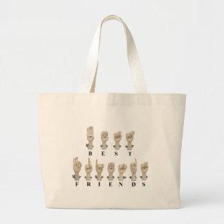 BestFriendsAmeslan062511 Jumbo Tote Bag