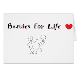 Besties 4 Life Greeting Card