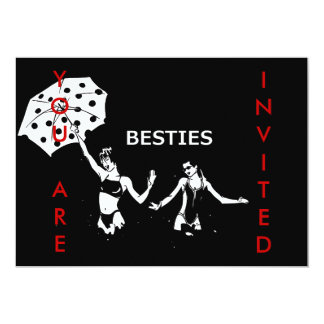 Besties Best Friends on the Beach Personalized Announcements