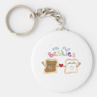 besties peanut butter fluff keychain