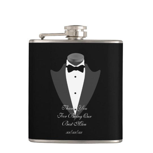 BESTMAN Gift Personalised Flask Father Bride Groom
