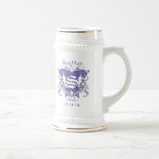 BestMan Wedding Stein  Vintage Lions 2 Heads Coffee Mug