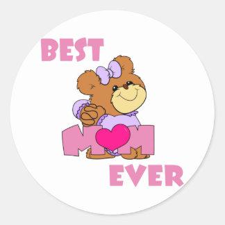 BestMom Round Sticker