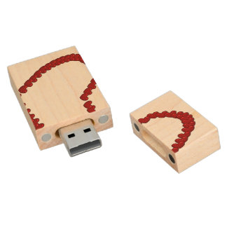 Bestselling Anniversary Themed Wood USB 2.0 Flash Drive