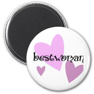 Bestwoman 6 Cm Round Magnet