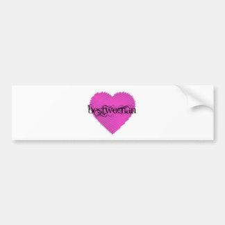 Bestwoman Bumper Sticker