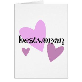 Bestwoman Card