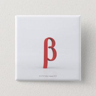 Beta 15 Cm Square Badge