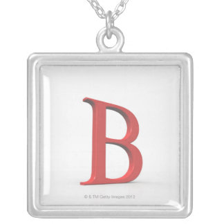 Beta 2 silver plated necklace