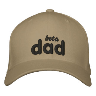 Beta Dad blk kahki hat Embroidered Baseball Cap