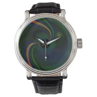 Beta eWatchFactory Vintage Leather Strap Watch