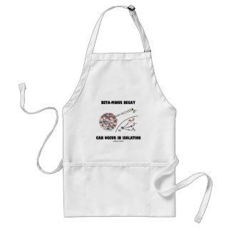 Beta-Minus Decay Can Occur In Isolation (Physics) Adult Apron