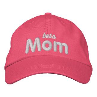 Beta Mom lt blu hat Embroidered Hats
