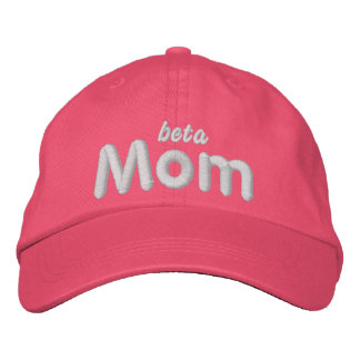 Beta Mom lt blu hat Embroidered Hats