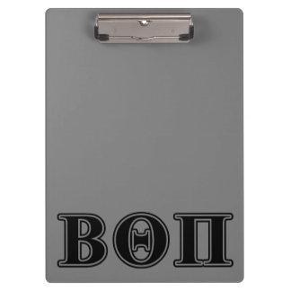 Beta Theta Pi Black Letters Clipboard
