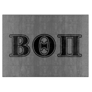 Beta Theta Pi Black Letters Cutting Board