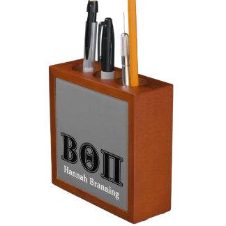 Beta Theta Pi Black Letters Desk Organiser