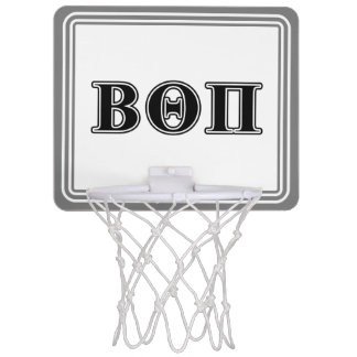 Beta Theta Pi Black Letters Mini Basketball Hoop