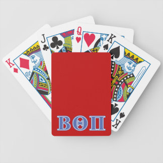 Beta Theta Pi Blue Letters Bicycle Playing Cards