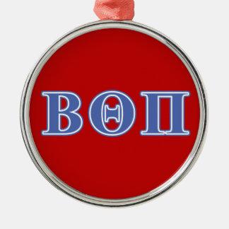 Beta Theta Pi Blue Letters Christmas Ornament
