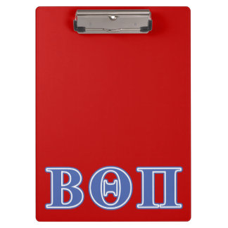 Beta Theta Pi Blue Letters Clipboard