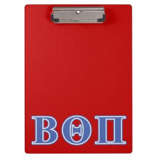 Beta Theta Pi Blue Letters Clipboard